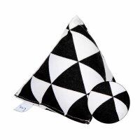 Große Pyramide Schwarz-Weiß Dreieck